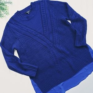 Thakoon for Design Nation Blue Sweater sz Lg